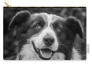 Expression Of A Border Collie Carry-all Pouch