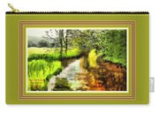 Expressionist Riverside Scene L A With Alt. Decorative Printed Frame. Carry-all Pouch