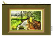 Expressionist Riverside Scene L A With Decorative Ornate Printed Frame Carry-all Pouch