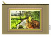 Expressionist Riverside Scene L B With Alt. Decorative Printed Frame.  Carry-all Pouch