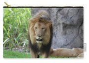 Expressive Male Lion Prowling Around In Nature Carry-all Pouch