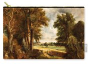 Extensive Landscape With Boy Drinking Water Carry-all Pouch