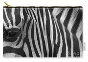Extreme Close Up Of A Zebra Carry-all Pouch