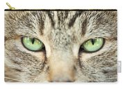 Extreme Close Up Tabby Cat Carry-all Pouch
