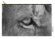 Eye Of The Lion #2  Black And White  Carry-all Pouch