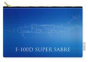 F-100d Super Sabre Blueprint Carry-all Pouch