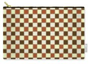Fabric Design Mushroom Checkerboard Abstract #2 Carry-all Pouch