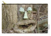 Face In The Woods Carry-all Pouch