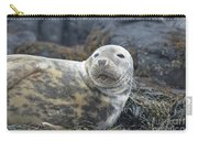 Face Of A Gray Seal Carry-all Pouch