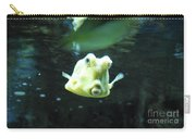 Face Of A Horned Boxfish Swimming Underwater Carry-all Pouch