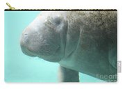 Face Of A Manatee Swimming Underwater Carry-all Pouch