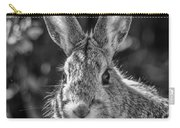 Face Of A Rabbit In Black And White Carry-all Pouch