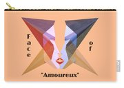 Face Of Amoureux Text Carry-all Pouch