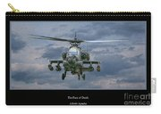Face Of Death Ah-64 Apache Helicopter Carry-all Pouch by Randy Steele
