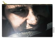 Face Of Fear And Danger Carry-all Pouch