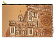 Faced Of Florence Cathedral  Carry-all Pouch