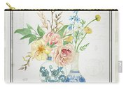 Faded Glory Chinoiserie - Floral Still Life 2 Blush Gold Cream Carry-all Pouch