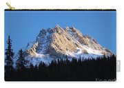 Fading Afternoon Sun Illuminates Mountain Peak  Carry-all Pouch