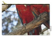 Fair Pair - Scarlet Macaw Carry-all Pouch