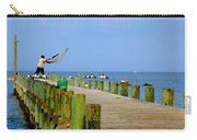 Fairhope Fisherman With Cast Net Carry-all Pouch
