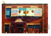 Fairmount Bagel By Montreal Streetscene Painter Carole  Spandau Carry-all Pouch