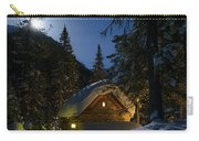 Fairy House In The Forest Moonlit Winter Night Carry-all Pouch