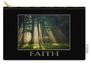Faith Inspirational Motivational Poster Art Carry-all Pouch