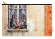 Fake Flowers On Window Carry-all Pouch