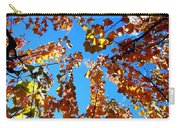 Fall Apricot Leaves Carry-all Pouch