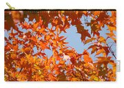 Fall Art Prints Orange Autumn Leaves Baslee Troutman Carry-all Pouch