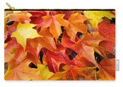 Fall Art Prints Red Orange Yellow Autumn Leaves Baslee Troutman Carry-all Pouch