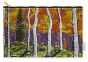Fall Birch Trees Painting Carry-all Pouch