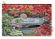 Fall Bridge In Manito Park Carry-all Pouch by Carol Groenen