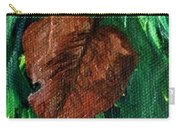 Fall Brown Leaf Carry-all Pouch