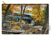 Fall Colors Over The Flume Gorge Covered Bridge Carry-all Pouch
