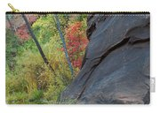 Fall Colors Peek Around Mountain Vertical Carry-all Pouch