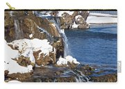 Fall Creek Falls In Winter Carry-all Pouch