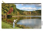 Fall Fishing Carry-all Pouch by Kristin Elmquist
