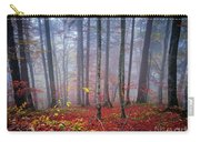 Fall Forest In Fog Carry-all Pouch