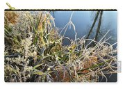 Fall Frost On Grasses Along Nippersink Creek Carry-all Pouch