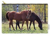 Horses Fall Grazing Carry-all Pouch