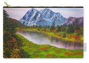 Fall In Mountains Landscape Oil Painting Carry-all Pouch