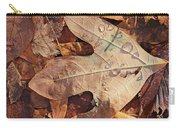 Fall Leaves And Dew 8 2017 Carry-all Pouch