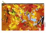 Fall Leaves Background Carry-all Pouch by Carlos Caetano