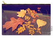 Fall Leaves On Granite Counter Carry-all Pouch