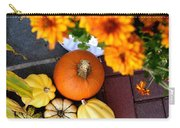 Fall Mums And Pumpkins Carry-all Pouch