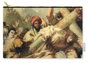 Fall On The Way To Calvary Carry-all Pouch by G Tiepolo