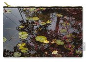 Fall Pond Reflections - A Story Of Waterlilies And Japanese Maple Trees - Take One Carry-all Pouch