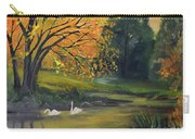 Fall Pond With Swans Carry-all Pouch