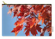 Fall Red Orange Leaves Blue Sky Baslee Troutman Carry-all Pouch